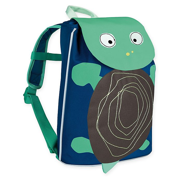 Alternate image 1 for Lassig Mini Duffle Turtle Backpack in Wildlife Blue