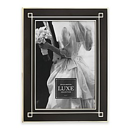 Reed & Barton® Luxe Collection 5-Inch x 7-Inch Deco Picture Frame in Black/Gold