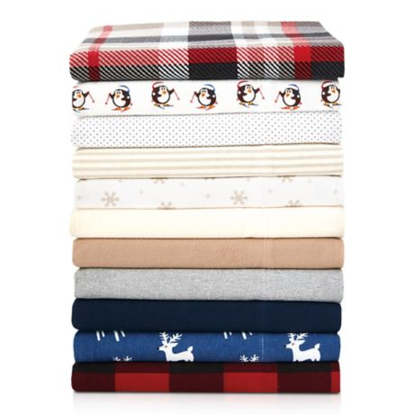 Seasons Collection The Homegrown Flannel Twin Sheet Set in Navy