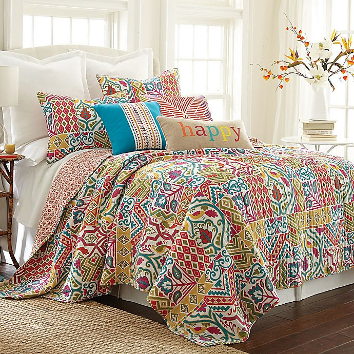 Alternate image 1 for Levtex Home Ariana Reversible Quilt Set
