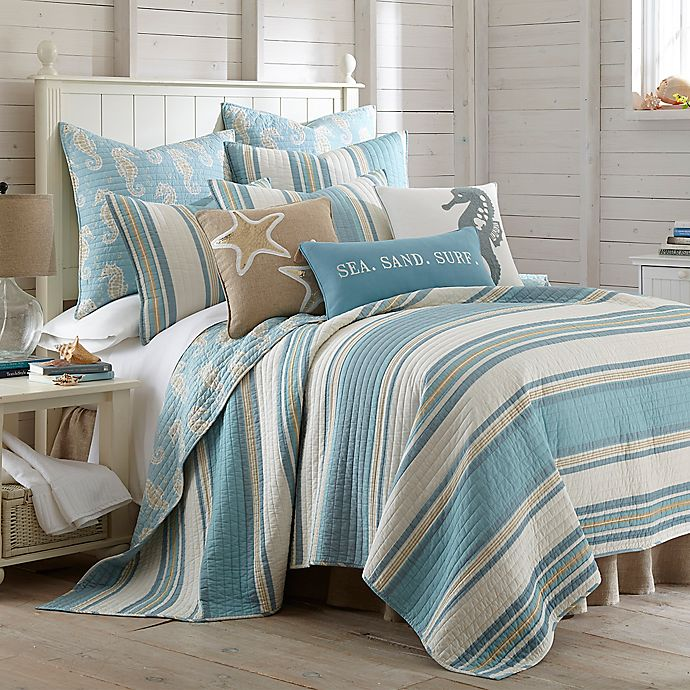 Alternate image 1 for Levtex Home Blue Maui Reversible Quilt Set