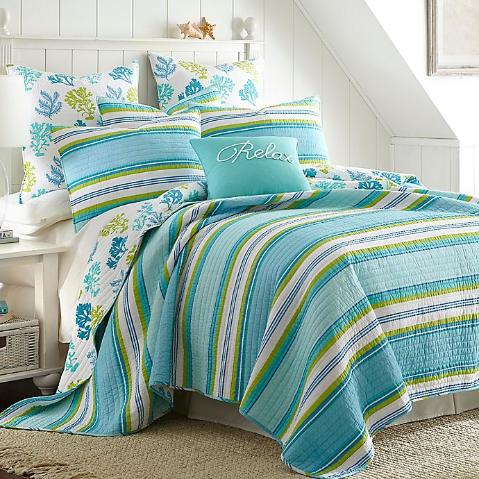 Alternate image 1 for Levtex Home Cozumel Reversible Twin Quilt Set