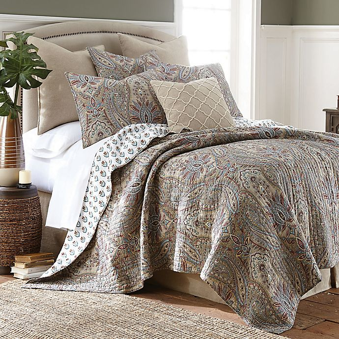 Alternate image 1 for Levtex Home Kasey Reversible Full/Queen Quilt Set in Taupe