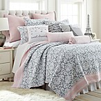 Levtex Home Margaux Reversible Full/Queen Quilt Set in Grey/Pink