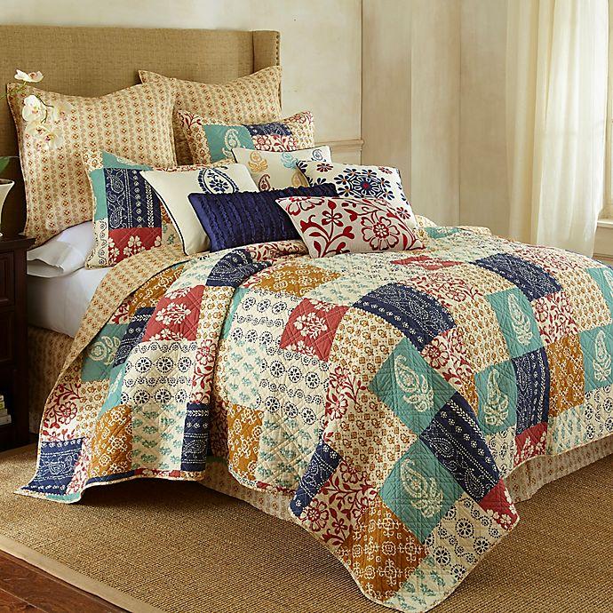 Levtex Home Jasmin Reversible Quilt Set In Blue Bed Bath