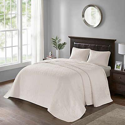 Madison Park Quebec 3-Piece Bedspread Set in Ivory