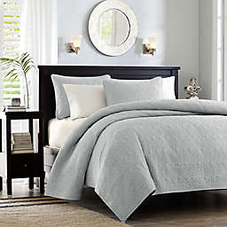 Madison Park Quebec 2-Piece Twin/Twin XL Coverlet Set in Grey