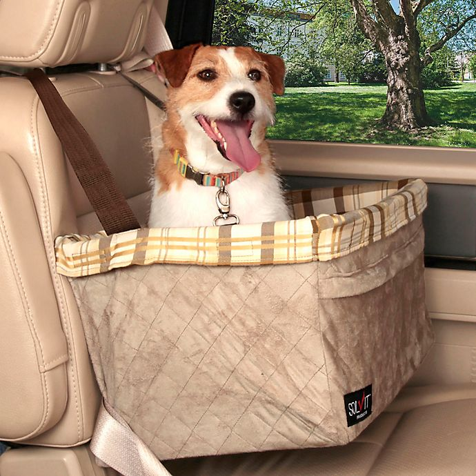 Alternate image 1 for Solvit® Tagalong™ Deluxe X-Large Pet Booster Seat in Taupe Plaid