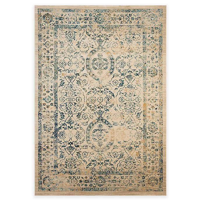 Alternate image 1 for Safavieh Evoke Quill 9-Foot x 12-Foot Area Rug in Beige/Turquoise