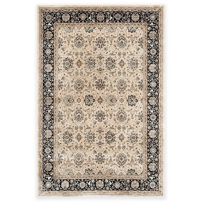 Alternate image 1 for Safavieh Persian Garden Azar 4-Foot x 5-Foot 7-Inch Area Rug in Ivory/Black