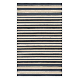 Surya Nadelhorn Indoor/Outdoor Rug in Navy/Cream