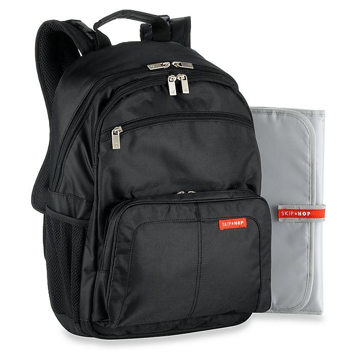 Alternate image 1 for SKIP*HOP® Via Backpack Diaper Bag in Black