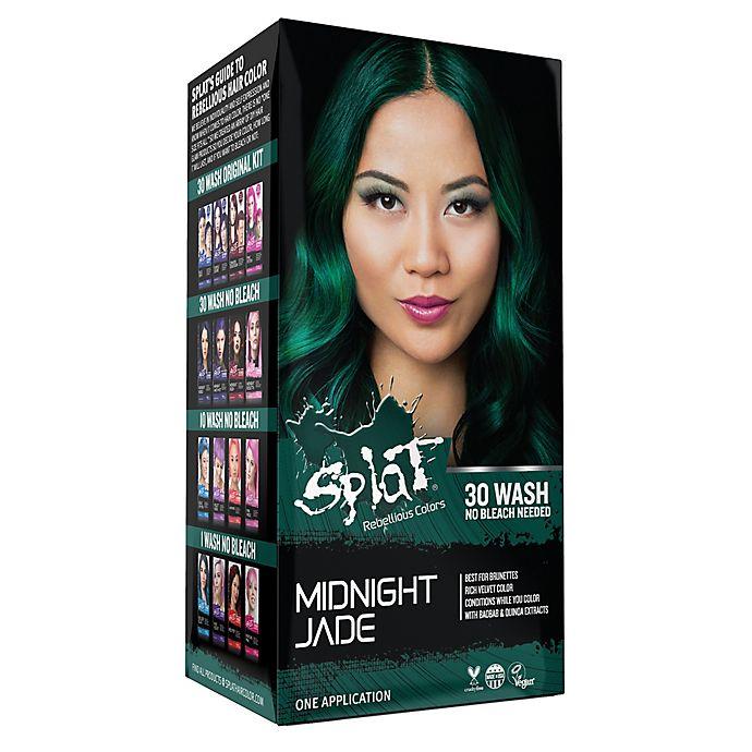 Alternate image 1 for Splat® Rebellious Colors Bleach Free Semi-Permanent Hair Color Kit in Midnight Jade