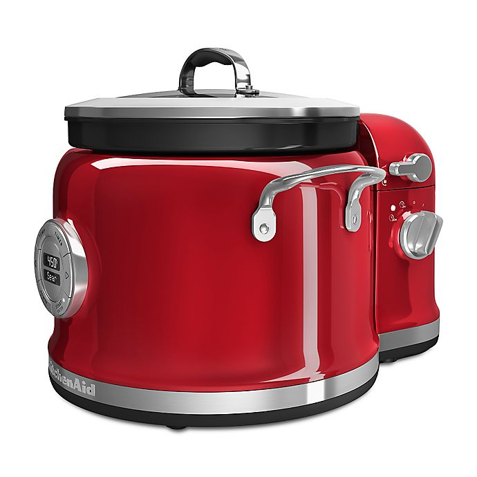 Alternate image 1 for KitchenAid® Multi-Cooker with Stir Tower Accessory in Candy Apple Red