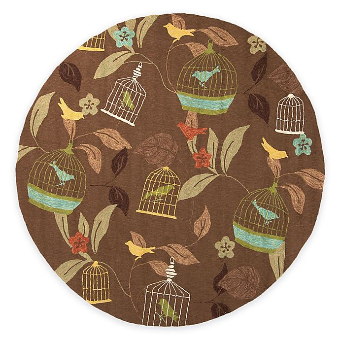 Alternate image 1 for Surya Anamudi 8-Foot Round Indoor/Outdoor Area Rug in Taupe
