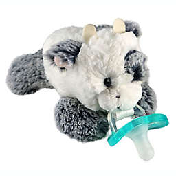 RaZbaby® RaZbuddy Cow Pacifier Holder with Removeable JollyPop Pacifier