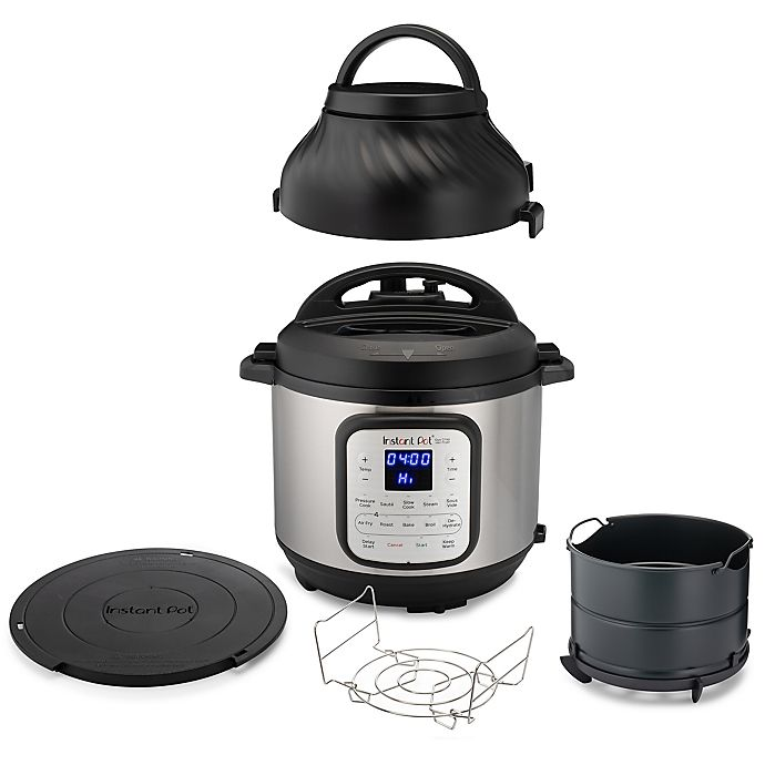 Alternate image 1 for The Instant Pot® 8 qt. Duo Crisp™ + Air Fryer in Stainless Steel/Black