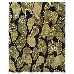 Feizy Leafscape Falling Leaves 5-Foot 6-Inch x 8-Foot 6-Inch Area Rug in Black