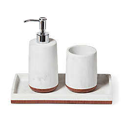 Roselli Trading Eleganza 3-Piece Bath Accessory Set in White