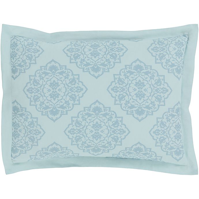 Alternate image 1 for Surya Anniston Standard Pillow Sham in Sky Blue