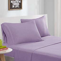 Intelligent Design® Jersey Knit Twin XL Sheet Set in Purple