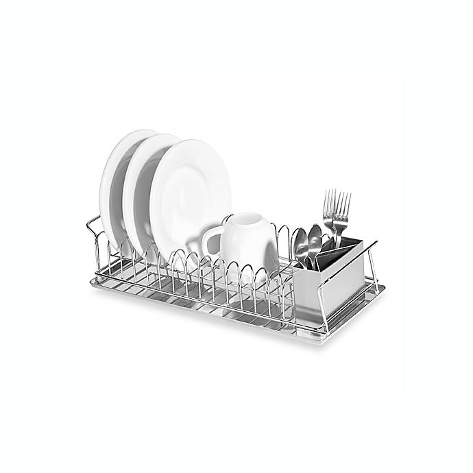 Alternate image 1 for Oggi™ Compact 3-Piece Dish Rack and Cutlery Holder