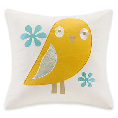 INK+IVY Kids Agatha Square Throw Pillow in Ivory
