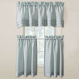 Langley Kitchen Window Curtain Tiers and Valance