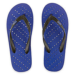 Unisex Diagonal Hole AquaFlops Shower Shoes in Royal Blue