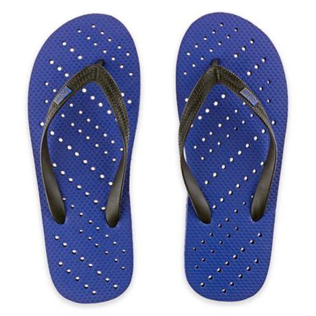 d07d37fa6abb Unisex Diagonal Hole AquaFlops Shower Shoes in Royal Blue