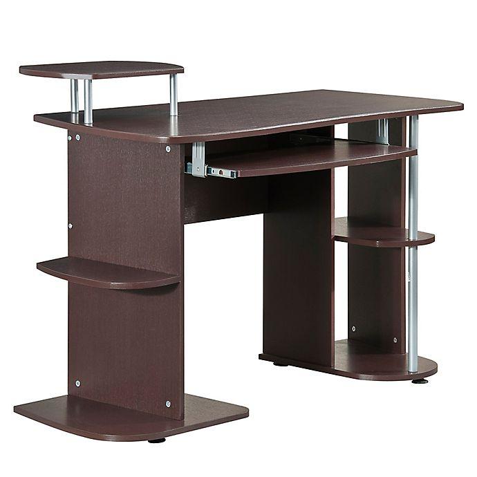 Alternate image 1 for Techni Mobili Computer Workstation Desk in Chocolate
