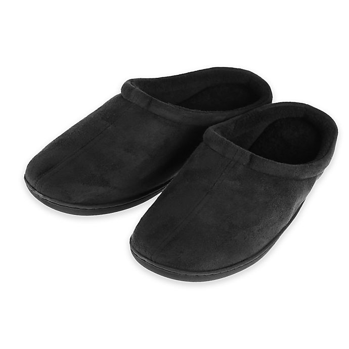 Alternate image 1 for Therapedic® Size XS Unisex Classic Outlast® Technology Slippers in Black