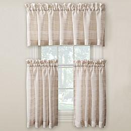 Surfside Kitchen Window Curtain Tier Pair and Valance