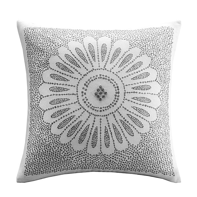Alternate image 1 for INK+IVY Sofia Square Throw Pillow in Grey