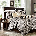Madison Park Aubrey Quilted King/California King Coverlet Set in Black