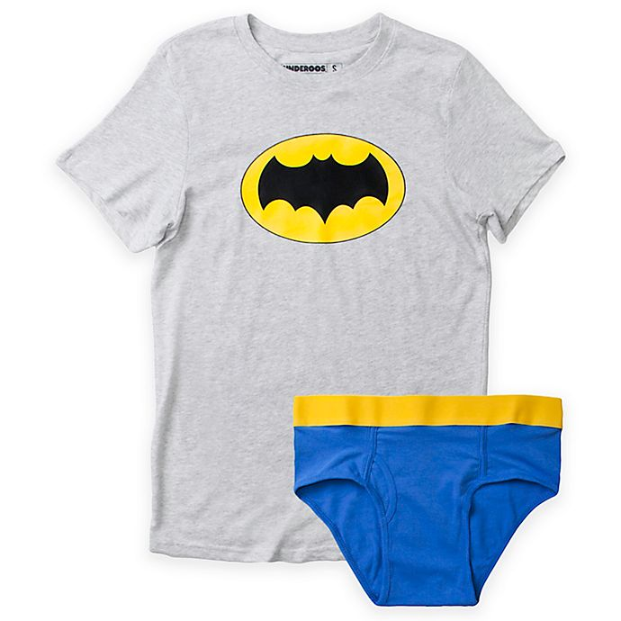 Alternate image 1 for Underoos® Size Extra Large Men's 2-Piece Batman T-Shirt and Brief Set