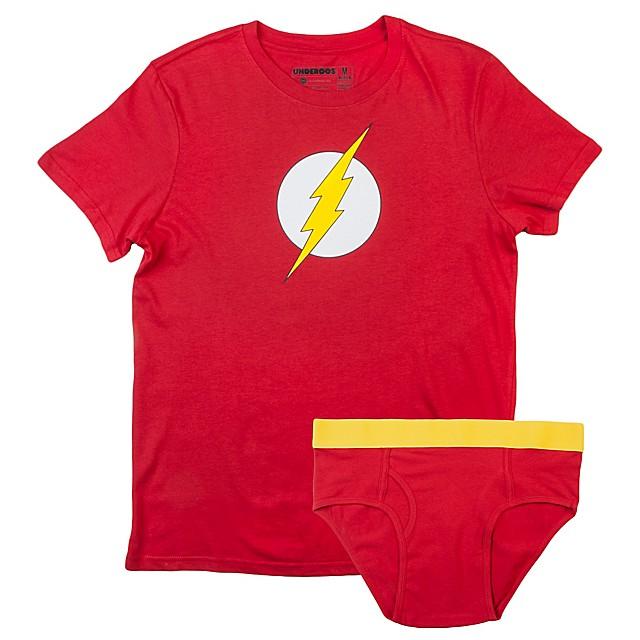 6e3e80127b653 Underoos® DC Comics Flash Men s Brief and T-Shirt Set