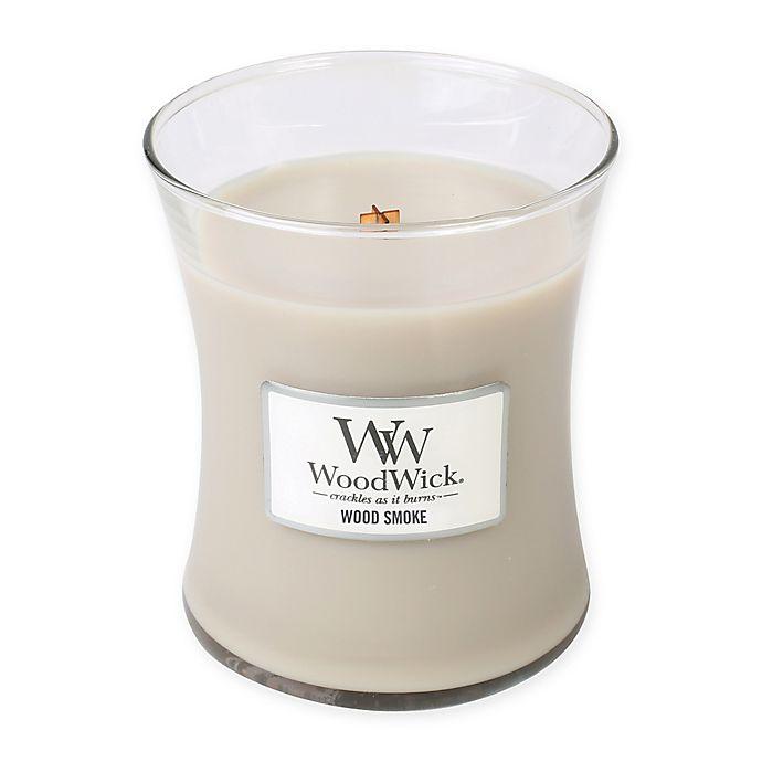 Alternate image 1 for WoodWick® Wood Smoke Medium Jar Candle