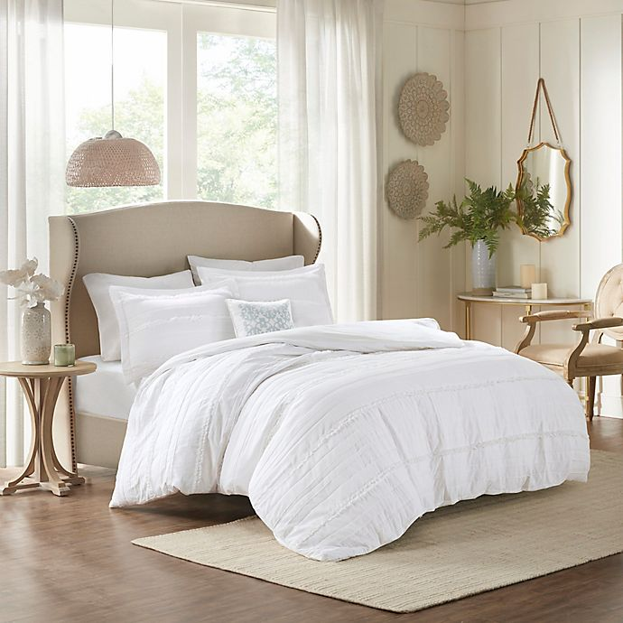 Alternate image 1 for Madison Park Celeste Full/Queen Coverlet Set in White