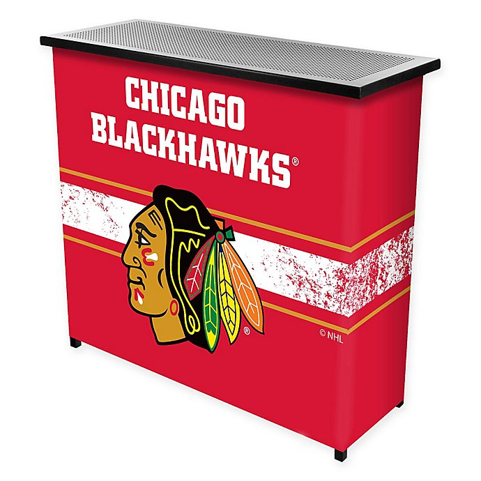 Alternate image 1 for NHL Chicago Blackhawks Portable Bar with Case