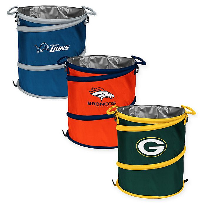 Alternate image 1 for NFL Collapsible 3-in-1 Cooler/Hamper/Wastebasket