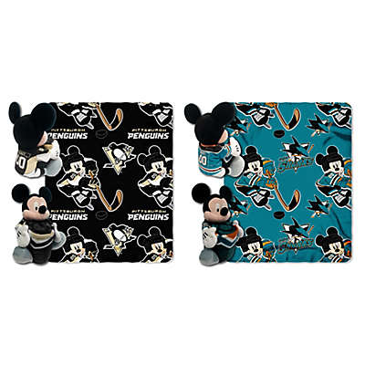 NHL & Mickey Hugger and Throw Blanket Set by The Northwest