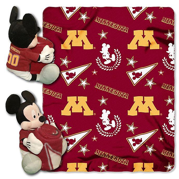 Alternate image 1 for University of Minnesota & Mickey Hugger and Throw Blanket Set by The Northwest