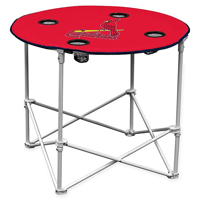 Alternate image 1 for MLB St. Louis Cardinals Round Collapsible Table