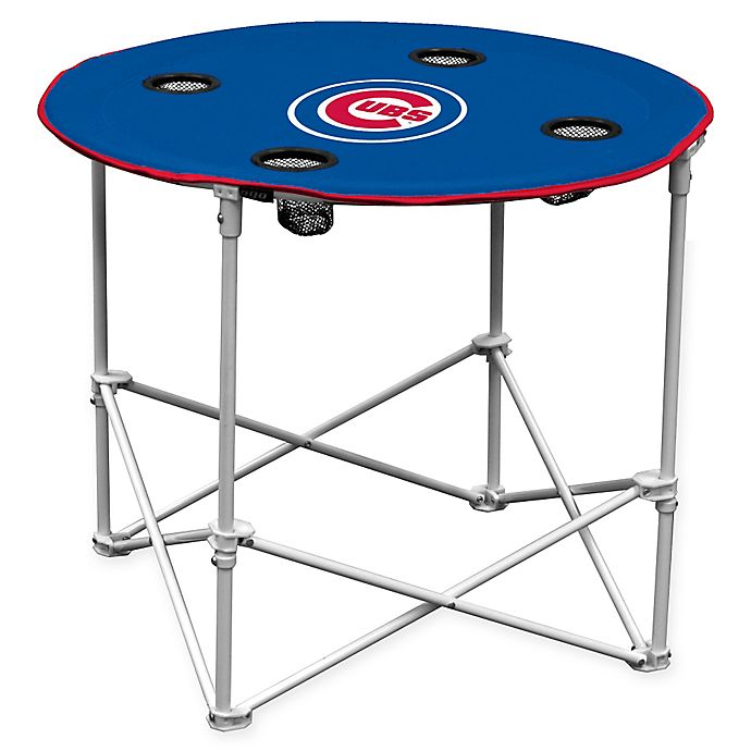 Alternate image 1 for MLB Chicago Cubs Round Collapsible Table