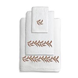 Autumn Leaves Turkish Cotton Bath Towel