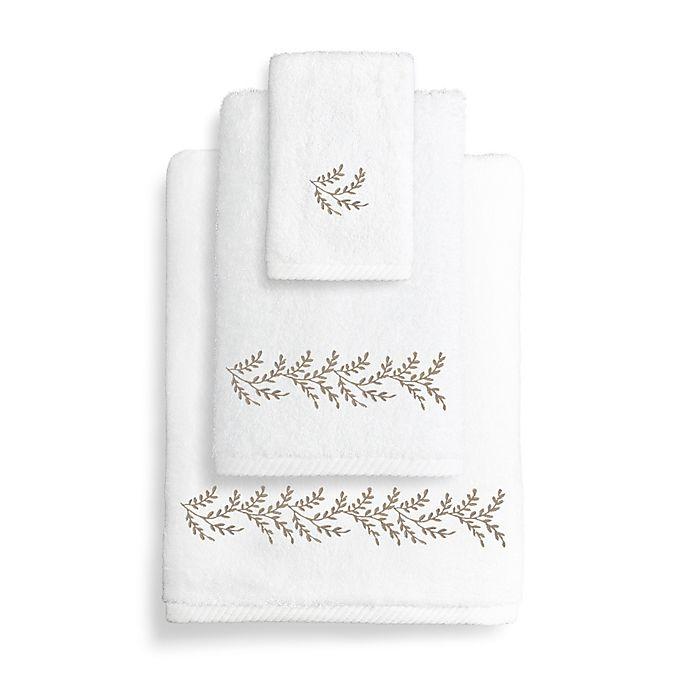 Buy Turkish Hand Towel: Buy Autumn Leaves Turkish Cotton Hand Towel In White/Light