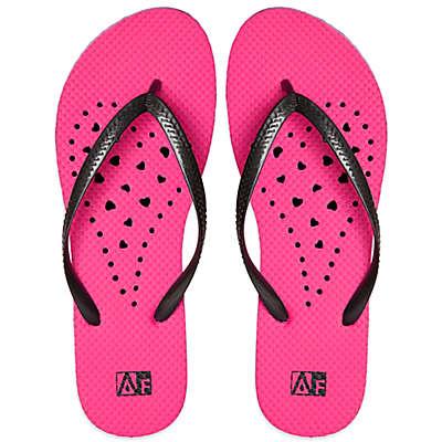 Women's Heart AquaFlops Shower Shoes in Pink