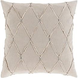 Surya Abakan Cotton/Linen European Pillow Sham  in Light Grey
