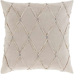 Surya Abakan Cotton/Linen European Pillow Sham  in Light Grey
